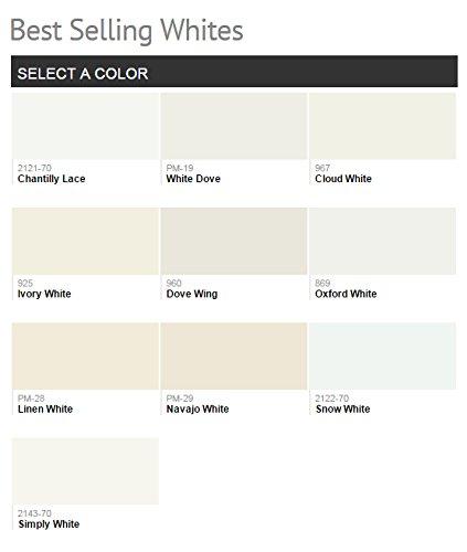 1G Benjamin Moore, WHITES, Aura Waterborne Interior Paint - Semi-gloss - Simply White