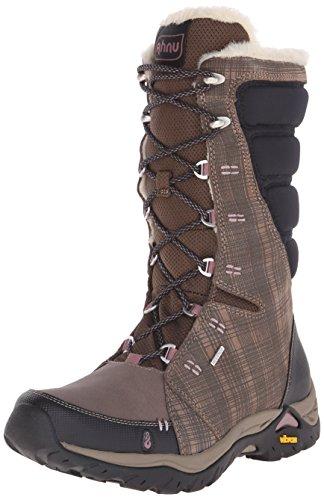 Ahnu Women's Northridge Insulated Waterproof Hiking Boot, Brindle, 6.5 M US