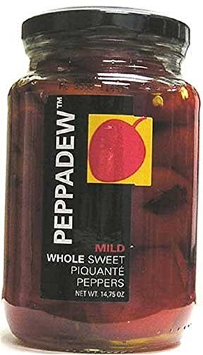 PEPPADEW Sweet Piquant Peppers, 14 Ounce (Small Red Peppers Stuffed With Cream Cheese)