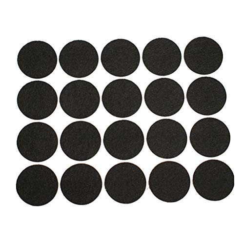 SUPVOX 100 Pcs Furniture Pads Self-Adhesive Feet Protective Mats Round Thick Felt Pads for Furniture Furniture Feet Protectors