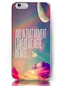 Cute Painting Deisign And in that moment I swear we were infinite -4.7 Inch iPhone 6 - hard snap on plastic case - Inspirational and motivational life quotes BY EPPOR