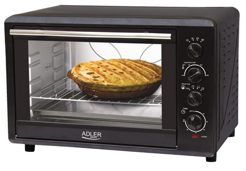 Adler AD 6010 - Horno de sobremesa, color negro [Clase de eficiencia energética A] Adler_AD 6010