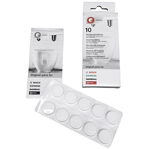 Bosch Machines Coffee - 10 Pack OEM Bosch Siemens Coffee Machine Cleaning Tablets Part 310575