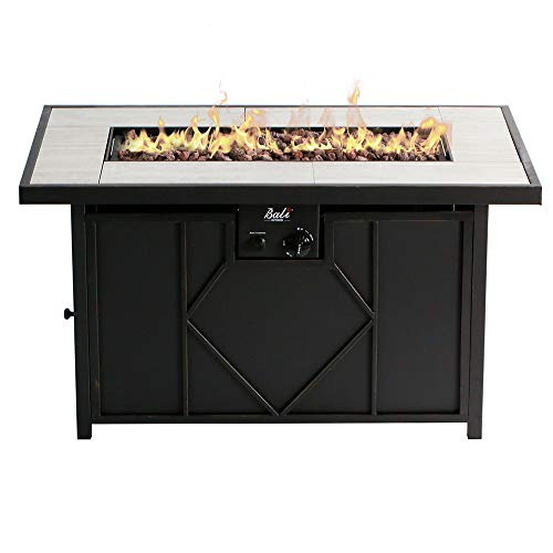 BALI OUTDOORS Rectangular Gas Fire Pit Table ()