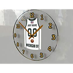 FanPlastic College Basketball USA - We're Number ONE College Hoops Wall Clocks - Support Your Team !!! (Michigan State Spartans)
