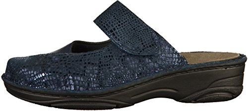 Berkemann Damen Heliane Clogs Blau (Blau Metallic)
