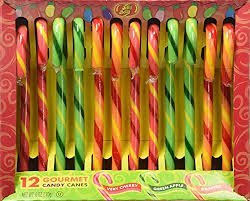 Jelly Belly Gourmet Candy Canes 12 count (pack of 2) Very Cherry Apple Orange