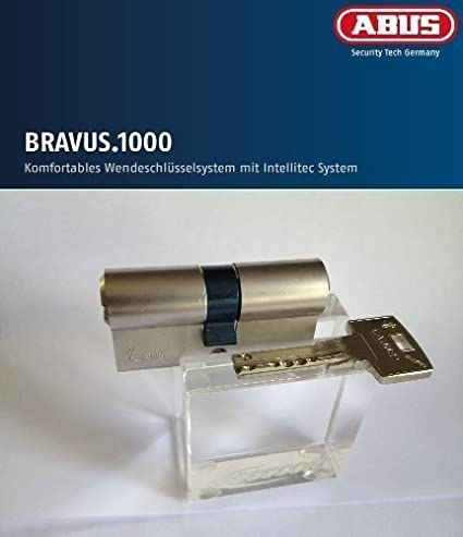 Abus Bravus 1000 Seguridad - DOBLE CILINDRO CON 5 LLAVES, longitud 40/40mm con