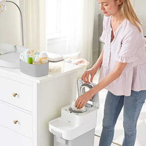 41qsFOm2W6L - Skip Hop Diaper Pail With Dual Air-Lock, Premium Slim Design, Fits Standard Trash Bags, White