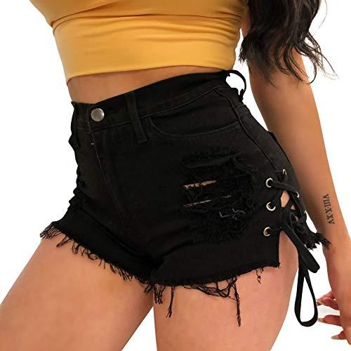 Women's Sexy Casual Mini Hot Pants Cut Off Denim Jeans Shorts Pants(Ravy XL)