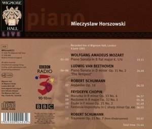 Works by Mozart, Beethoven, Schumann & Chopin