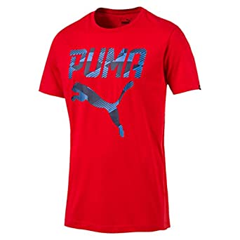 Puma Camiseta BRAND TEE Rojo - L: Amazon.es: Ropa y accesorios