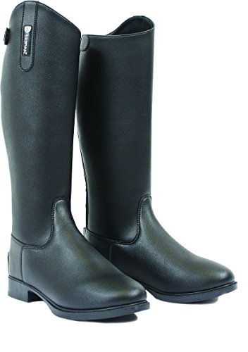 Synthetic Riding Leather Boots Black Long Horseware zqxdpPTd
