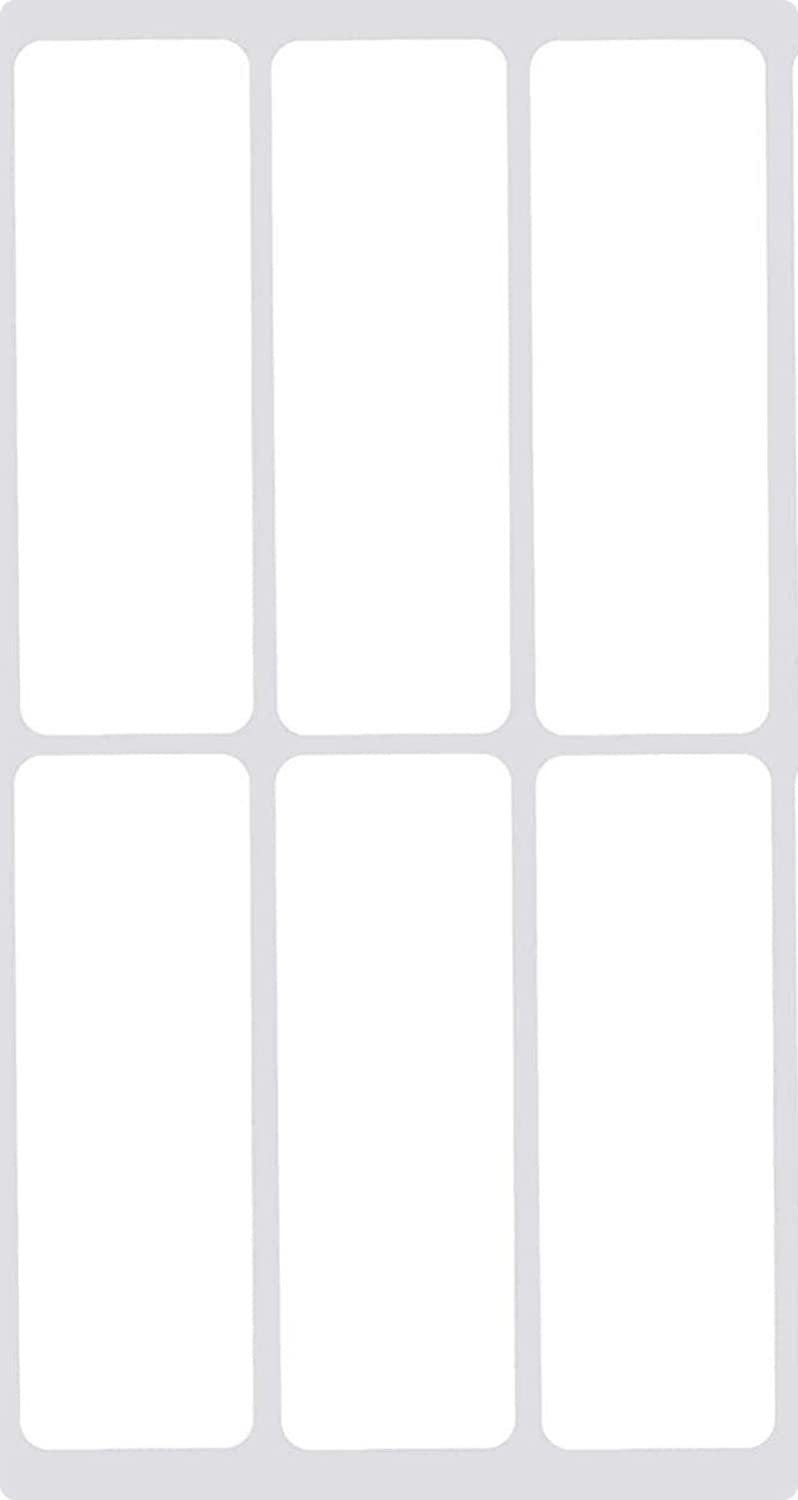 Removable File Folder Label Stickers -120PCS 0.9 x 2.5 inch Waterproof Labels for Food Containers Blank Write on Name/Address Labels Self-Laminating Nametags for Jars Bottles
