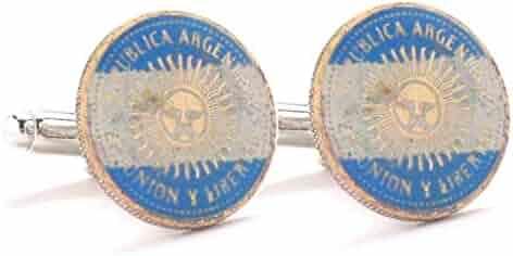 Marcos Villa Germany Cufflinks Cuff Links Coins Flag Vintage Style Berlin Frankfurt Dresden Eagle Europe German