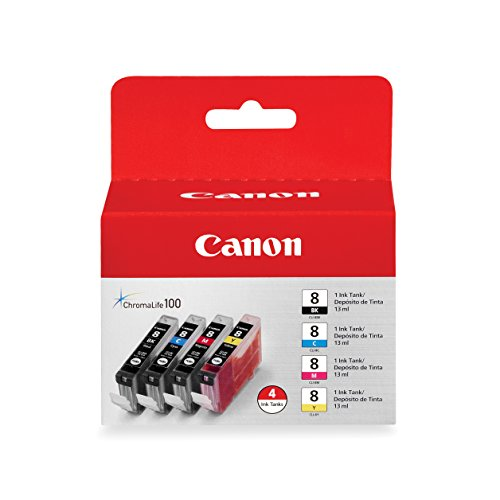 Canon CLI-8 4 Color Multi Pack Compatible to Pro9000, Pro9000 Mark II, iP6700D, iP6600D, iP5200R, iP5200, iP4200, iP4500, and iP4300