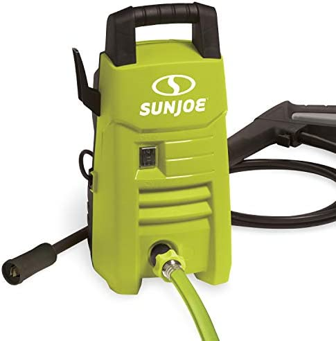 Sun Joe SPX201E 1350 Max PSI 1.45 GPM 10-Amp Electric Pressure Washer, Green