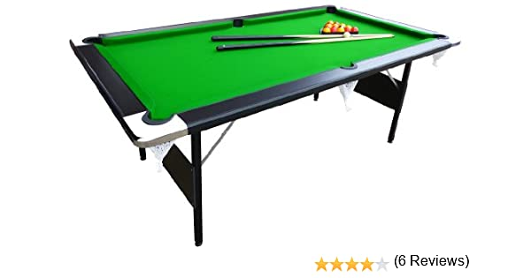Mightymast Leisure Hustler Plegar Mesa de Billar – Verde, 7 ft ...