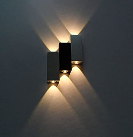 Luminturs Tm 6w Dimmable Led Up Down Wall Sconce Indoor Light Energy Saving Fixture Lamp