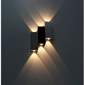 LUMINTURS 6W Dimmable LED Up/Down Wall Sconce Indoor Light Energy Saving . & LUMINTURS 6W Dimmable LED Up/Down Wall Sconce Indoor Light Energy ... azcodes.com