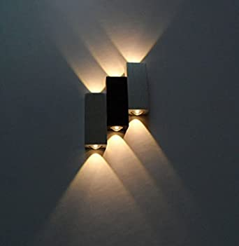 LUMINTURS 6W Dimmable LED Up/Down Wall Sconce Indoor Light Energy ...