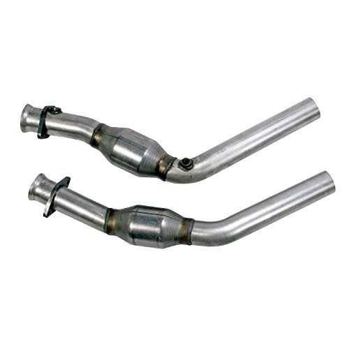 BBK Performance Parts 1814 High-Flow Full X-Pipe Assembly 2.5 in. w/2 High Flow Catalytic Converters Direct Fit High-Flow Full X-Pipe Assembly