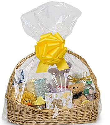 """Cakesupplyshoppackaged 10pack Clear Cello/cellophane Bags Gift Basket Packaging Bags Flat- 24"""" X 30"""""""