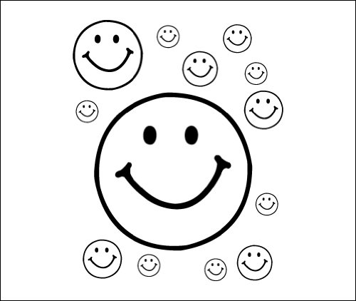 Smiley Face - temporary tattoos (Set of 2)