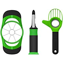 Kitchen Fruit Tools Gadgets Set, Beyetori Avocado Slicer, Apple Corer Cutter and Vegetable Peeler