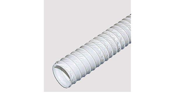 Tubo de salida de aire flexible de PVC (6 m, 125 mm): Amazon.es: Hogar
