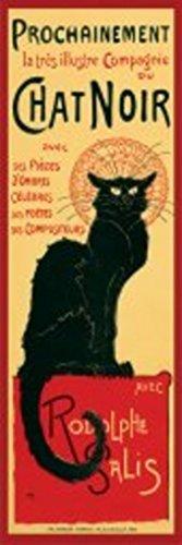 Pyramid America Le Chat Noir The Black Cat Bohemian Montmartre District Paris Vintage Advertisement Poster 12x36 (Chat Noir Poster)