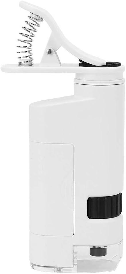 Zoom ajustable 80-120X Lupa para m/óvil Microscopio de alta presi/ón Pinza de aumento para la detecci/ón del cabello para la inspecci/ón de joyas y sellos