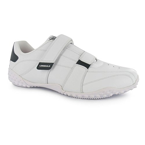 Lonsdale Fulham Trainers Mens White/Black Casual Sneakers Shoes Footwear deals sale online EVvEvXTw