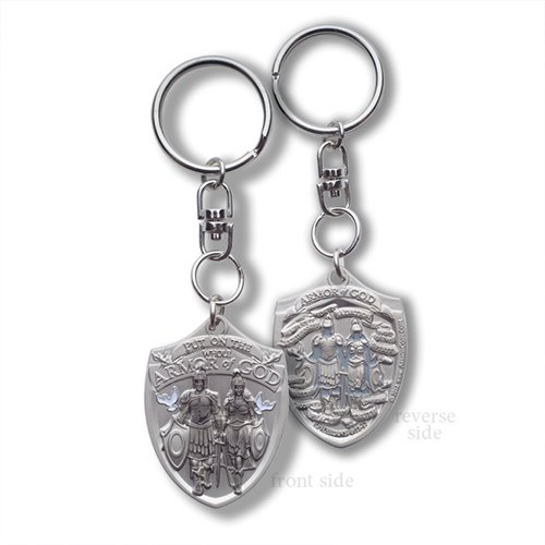 Tag Dog Shield - Whole Armor of God Shield (Military Dog Tag) Swivel Key Chain