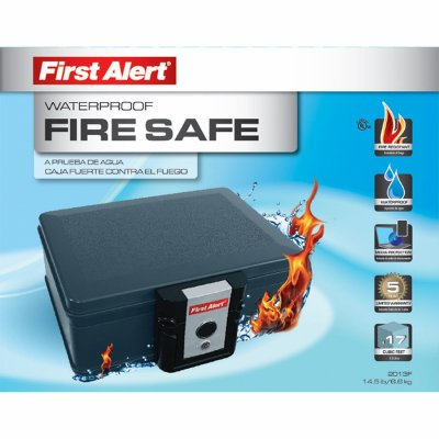 First Alert 2013F Water and Fireproof Security and Media Safe