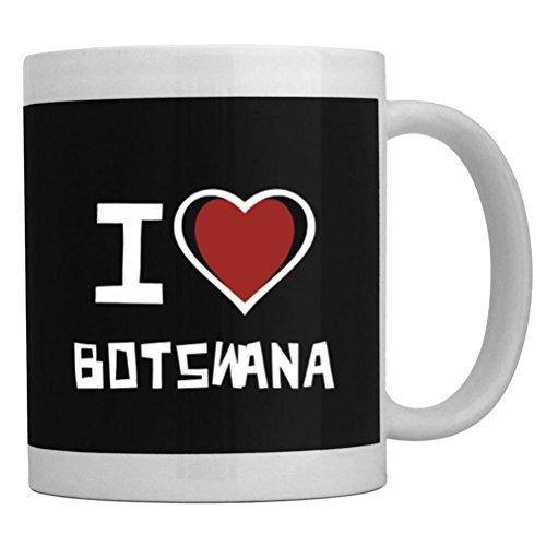 Fuuny Coffee Mugs I love Botswana Mug