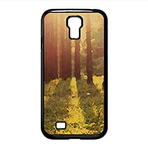 Warm Summer Sunlight Watercolor style Cover Samsung Galaxy S4 I9500 Case (Forests Watercolor style Cover Samsung Galaxy S4 I9500 Case)