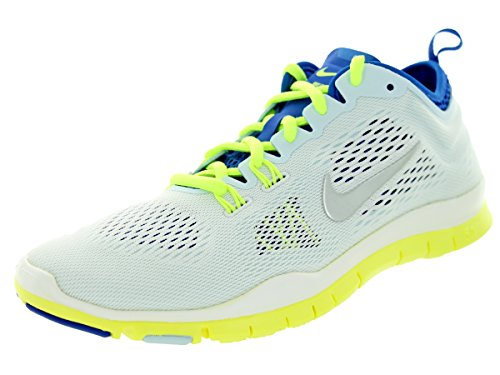 Nike Womens Free Fit 4 Team Trainers 8 US White/Cobalt/Volt by NIKE