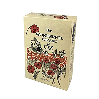 Rodaruus Wizard of Oz Playing Cards, Full 54 Poker-Size Card Deck (Beige): Sports & Outdoors