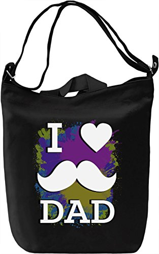 I Love My Dad Borsa Giornaliera Canvas Canvas Day Bag| 100% Premium Cotton Canvas| DTG Printing|