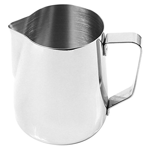 Gracefulvara 350ml Stainless Steel Milk Coffee Frothing Pitcher Cup (Conical Jug)