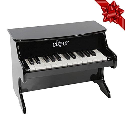 First Keyboard (Clevr My First Keys Kids Piano 25 Key Keyboard Wood Boys Girls Black)