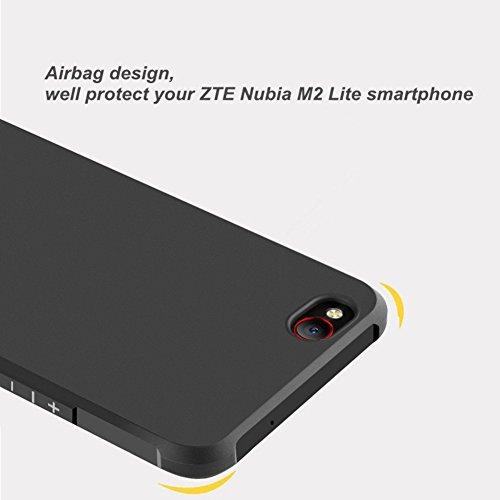 ZTE nubia M2 Lite Funda, Calidad Premium Cubierta Delgado Caso de TPU Silicona Funda Protective Case Cover para ZTE nubia M2 Lite Negro