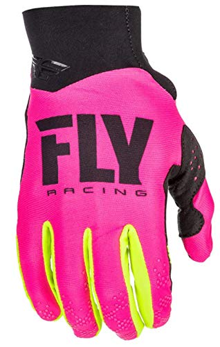 (Fly Racing Men's Pro Lite Gloves (Neon Pink/Hi-Vis, Size 7))