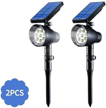 2PCS Potencia Solar LED de luces de jardín Patio Auto Lámpara de Pared al Aire Libre Patio Garde