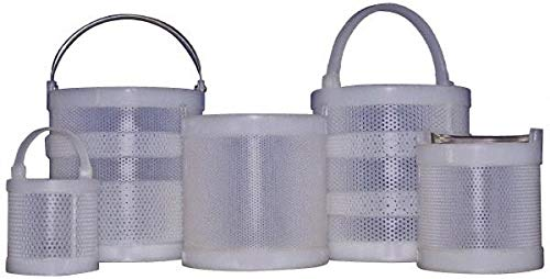 Made in USA - Round Plastic Dipping Basket 1/8'' Perforation, 12'' Outside Diam