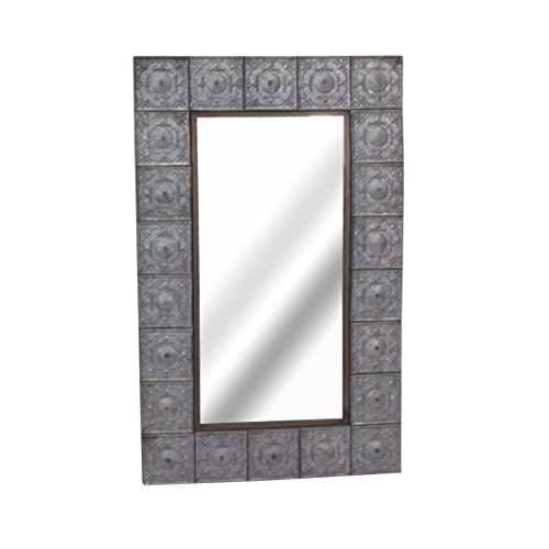Sagebrook Home WM10414-01 Wall Mirror, Metal & Glass Metal, 23.25 x 1.5 x 37.5 Inches by Sagebrook Home