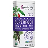 Essential Living Foods Organic Superfood Smoothie Mix, With Mesquite, Lucuma, Pea and Hemp Protein, Acai and Goji Berry Powder, Vegan, Non-GMO, Gluten Free, Kosher, 14.5 Ounce Tin