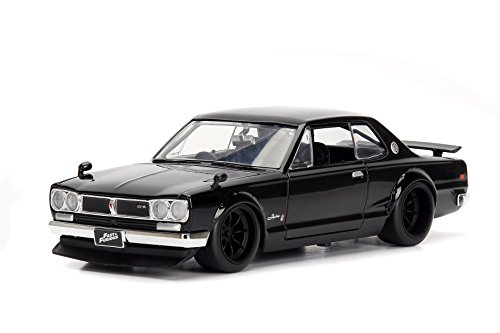 NEW 1:24 JADA TOYS DISPLAY FAST & FURIOUS - Black Brian's Nissan Skyline 2000 GT-R Diecast Model Car By Jada Toys (Without Retail ()