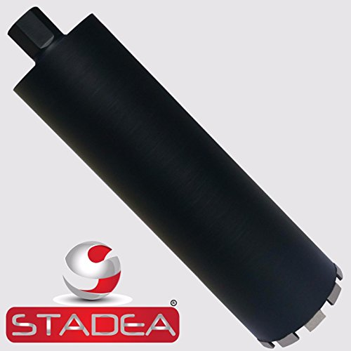 Stadea CBD106N Diamond Concrete Hole Saw 5 Inch Core Drill Bit For Concrete Brick Block Stone Masonry, Laser Welded Wet Dry 1 1/4-7 Thread -